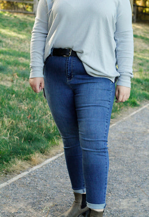 Plus size high rise jean
