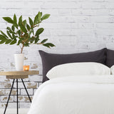 Linen Blend Pillowslip in Charcoal