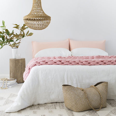 Linen Blend Pillowslip in Pink
