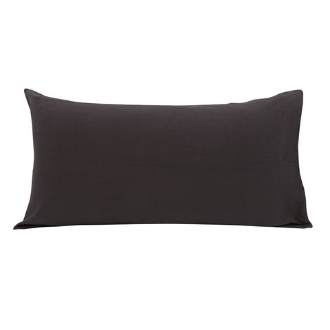 Cotton Linen Pillowslip in Charcoal
