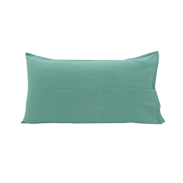 Cotton Linen Pillowslip in Sea Green