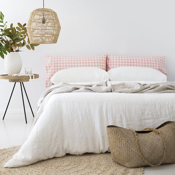 Gingham Pillowslip in Pink