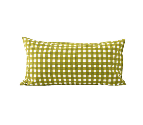 Gingham Pillowslip in Olive