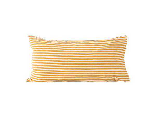 Pinstripe Pillowslip in Rust