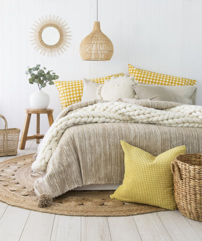 Gingham Pillowslip in Mustard