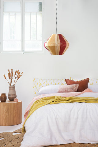 Feather Pillowslip in Mustard