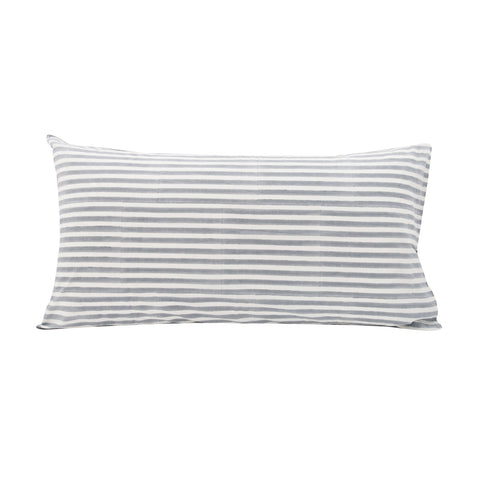 Pinstripe Pillowslip in Grey