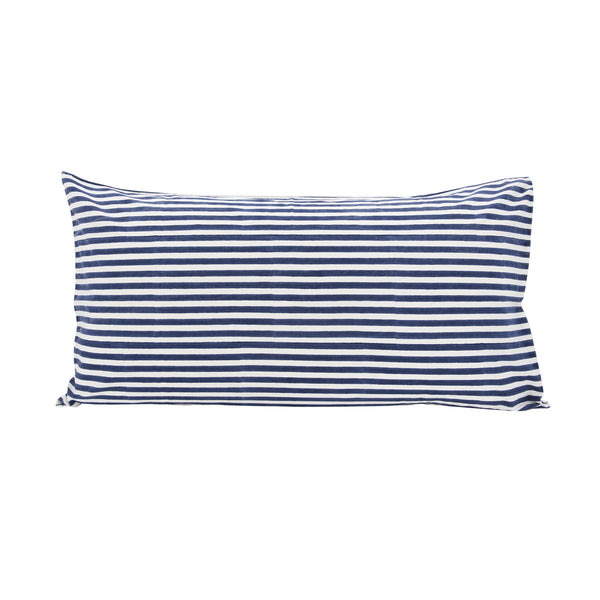 Pinstripe Pillowslip in Navy