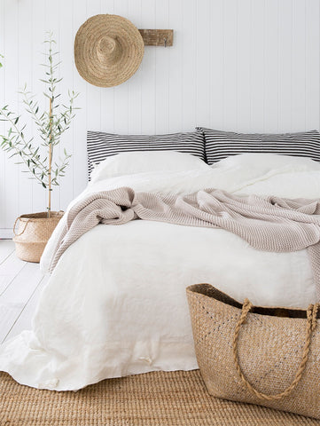 Pinstripe pillowslip in charcoal