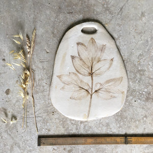 Tree Peony cheese board 1 medium