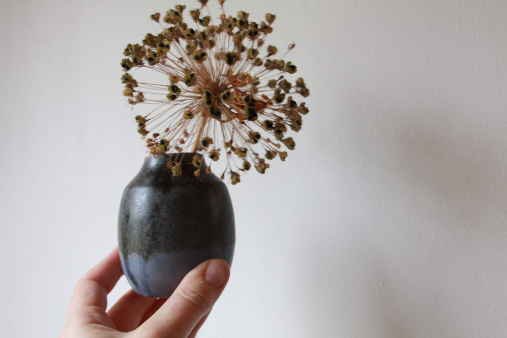 Blue-black Bud Vase
