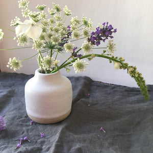 Matt white bud vase 1