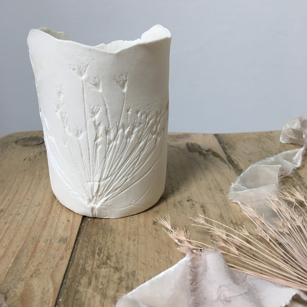 Cow parsley porcelain tea light holder no.1