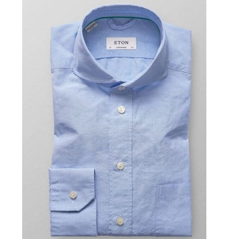 Blue Textured soft cutaway Shirt