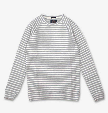 Carlos Grey/Ecru Stripe long sleeve Tee