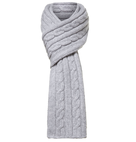 Grey baskit knit scarf