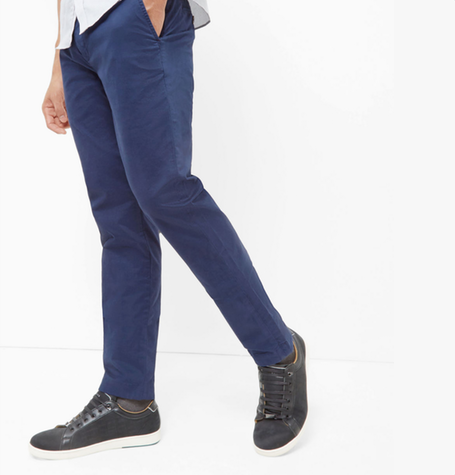 Serny Dark Blue Chinos