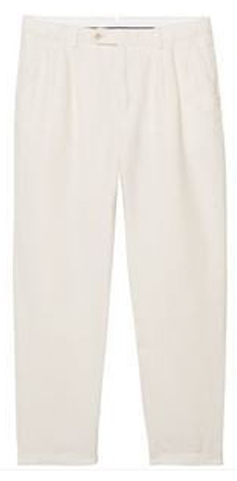 Off White Pleated Slacks