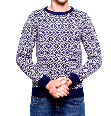 Evening Blue Print Jumper