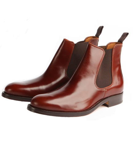 Tan Polished Classic Chelsea Boot