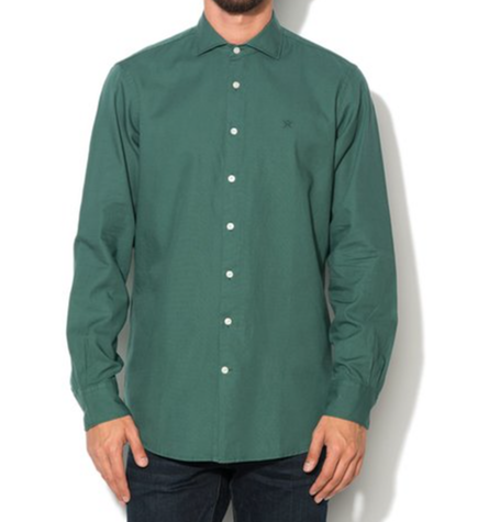 Green Dyed Oxford Shirt