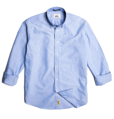 Regular light blue soft cotton button down