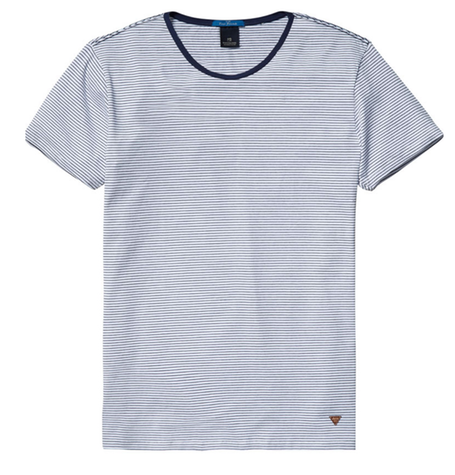 Blue Fine Stripe Tee