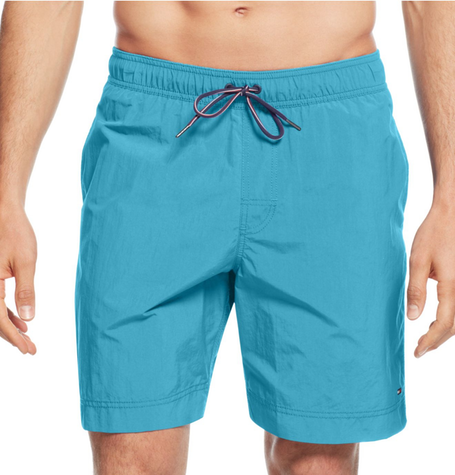Teal Solid Swim Trunk