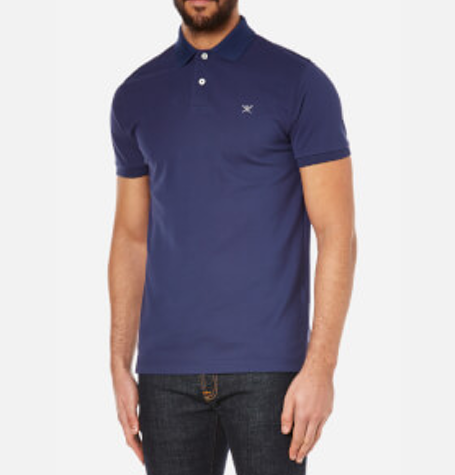 Blue Tailored Logo Polo