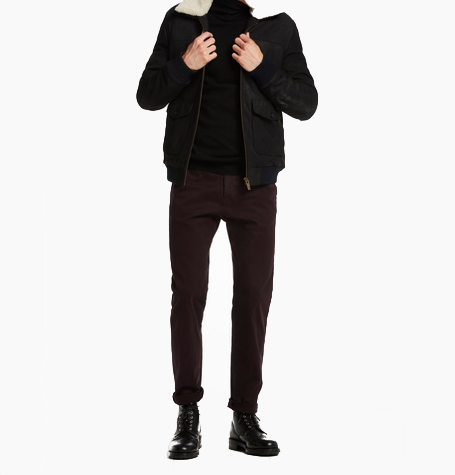 Burgundy Garment Dyed Chinos
