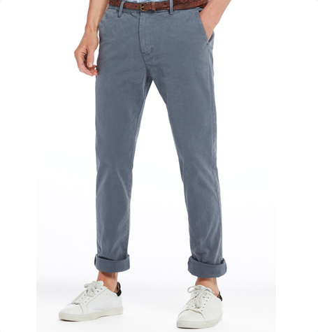 Steel Blue Regular Fit Chino