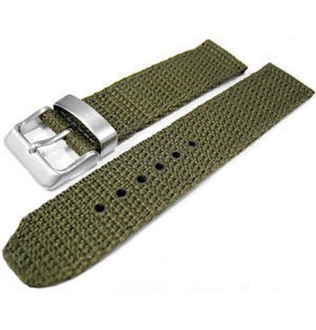 Green Military Nylon Watch Strap