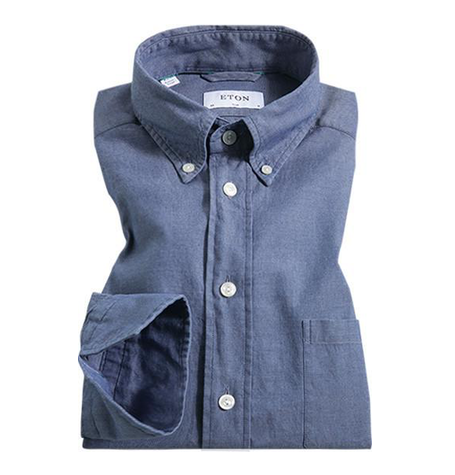 Blue Texture Button Down Collar Shirt
