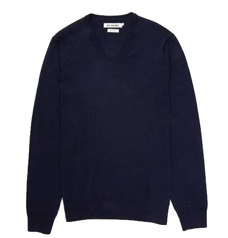 Navy blazer Merino V Neck Jumper