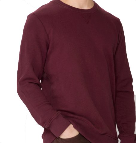 Organic Berry French Terry Crew Neck