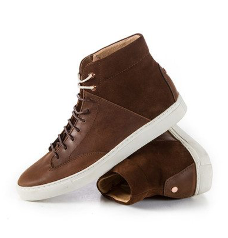 Porter Saddle High Top Trainers