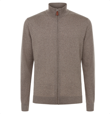 Rufus Zip up funnel neck knit