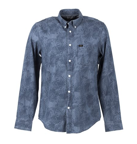 Button Down Delft Blue Shirt