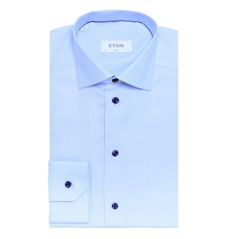 Bright Blue Micro Line Shirt