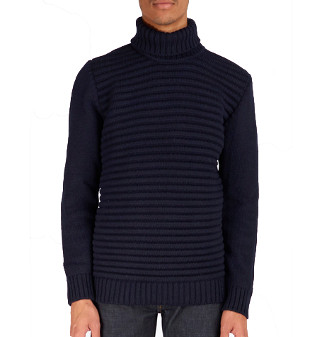 Navy Mariner Polo Neck