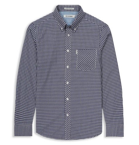 Blue Depth Gingham Mod Shirt