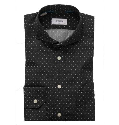 Black & White Polka dot button down Shirt