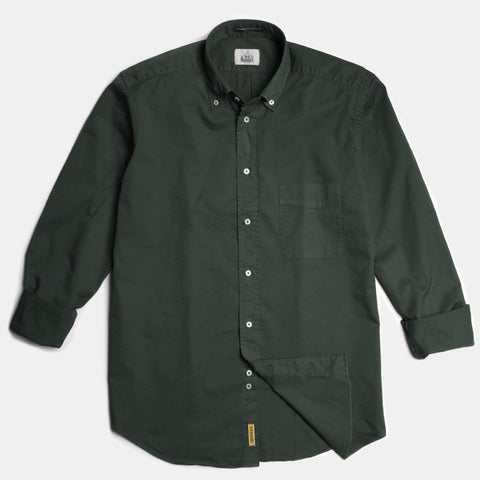 Regular green soft cotton button down