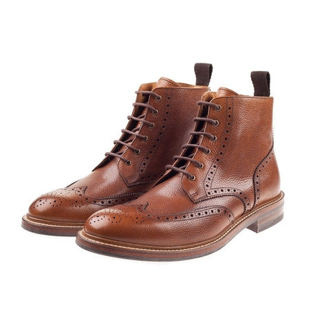 Bourton Tan Brogue Boot
