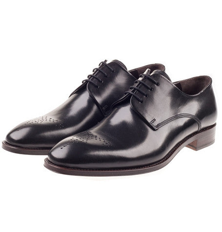 Molton Black Derby Shoes
