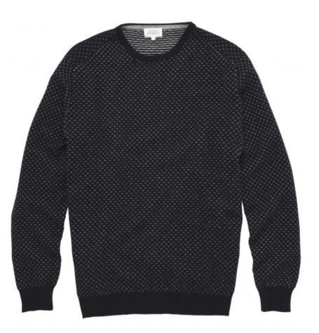 Charcoal Cashmere Dot Crew