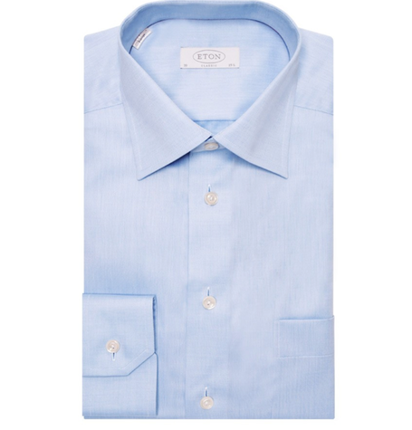 Light Blue Contemporary Cutaway Shirt