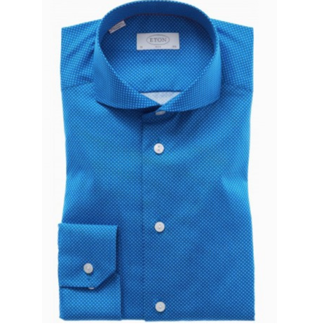 Slim Blue Pattern Shirt