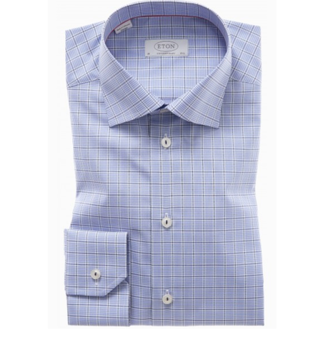 Blue Contemporary Check Shirt