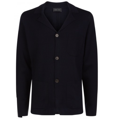 Knitted Navy Blazer